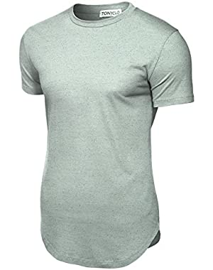 Men's Marble Pattern Cotton Fabric Lightweight Casual Shirt Tops (CTEM001)