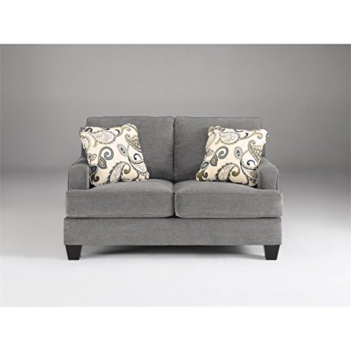 Ashley Yvette Loveseat in Steel