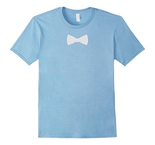 Mens Funny party - Bow Tie T-Shirt XL Baby Blue (Grandma Halloween Costume Ideas)
