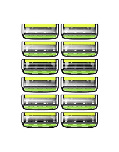 Dorco Pace 6 Pro - Six Blade Razor System with Trimmer- 12 Pack Refill (No Handle)