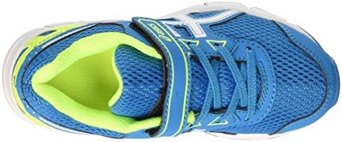 Asics Pre Galaxy 9 Ps, Zapatillas de Entrenamiento Unisex Niños Multicolor (Blue Jewel/White/Safety Yellow)