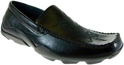 Delli Aldo Men's 30052 Stitched Toe Moccasin Slip On Loafers Shoes