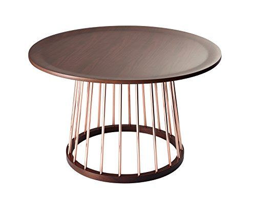 Adesso WK2361-15 Barnum Coffee Table, Copper/Walnut (Table Accent Adesso)