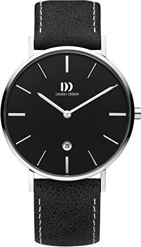 "Men's Case ""tidlos"" Silver Strap Japanese Design Quartz WatchColorBlackmodelIq13q1231 Stainless With Danish Leather Casual Steel SVzjLUqpGM"