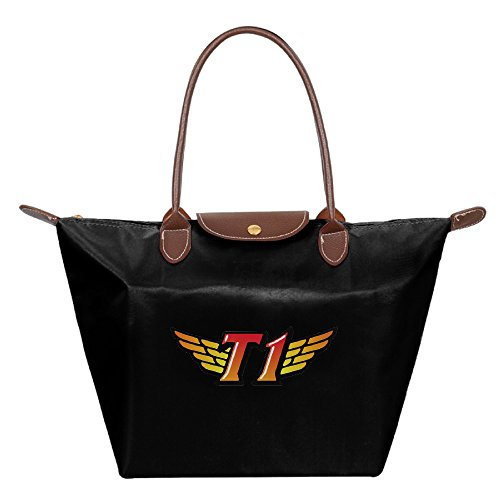 womens-sk-telecom-t1-k-waterproof-tote-shoulder-bag-travel-shoulder-tote-beach-bags-black
