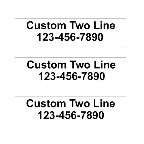 - 3 Pack Customized 2-Line Rider Signs - 6