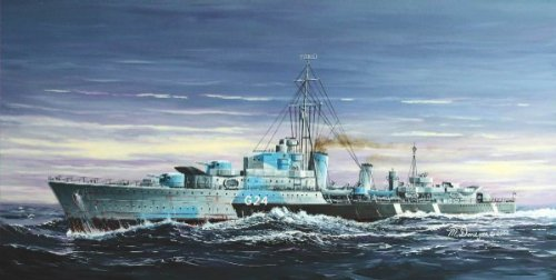 Trumpeter 1 700 Hmcs Huron  G24  British Tribal Class Destroyer 1944 Model Kit