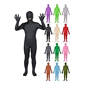 - 41XHufSzk3L - Sheface Spandex Mouth Open Second Skin Zentai Full Body Costume