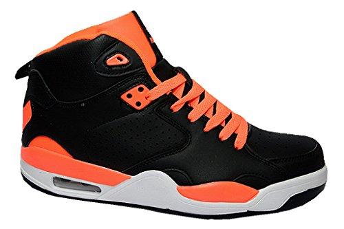 Roadstar Damen Herren Basketball Sneakers High Top Freizeitschuhe Sportschuhe Turnschuhe 36-46 Schwarz/Orange