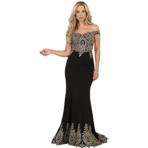 Nice Formal Dress Shops Inc Royal Queen RQ7586 Special Occasion Formal Stretchy Gown for sale