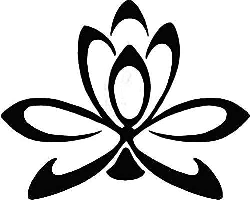 Plantilla para Henna, flor de loto, Jagua & aerógrafo Tatuajes ...
