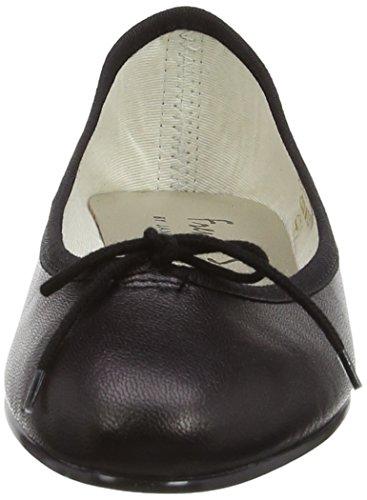 French Sole India Plain Leather - Bailarines para mujer Negro