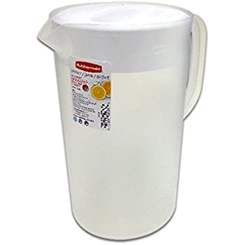 Rubbermaid 26072 Limited Edition Dishwasher Safe Pitcher, White