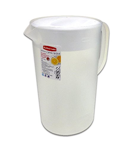 Rubbermaid 26072 Limited Edition Dishwasher Safe Pitcher, White (Pitcher 1 Gallon)