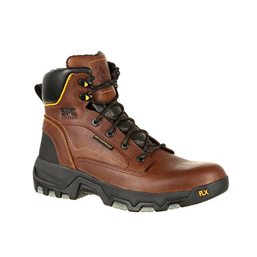 """Georgia Boot Men's 6"""" SPC Leather FLXpoint CC Insole Waterproof Work Boot--GB00167"""
