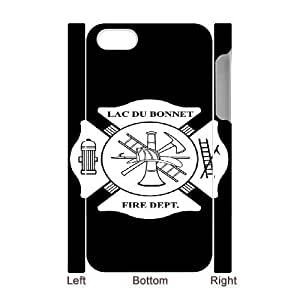 Design Cases iphone4 4S 3D Cell Phone Case White Firefighter Emblem Jzegvo Printed Cover