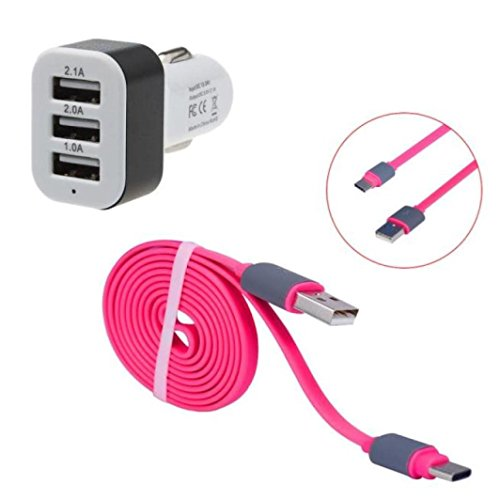 3.0A Hi-speed USB 2.0A Male to Micro USB Sync Charging Cable (Pink) - 7