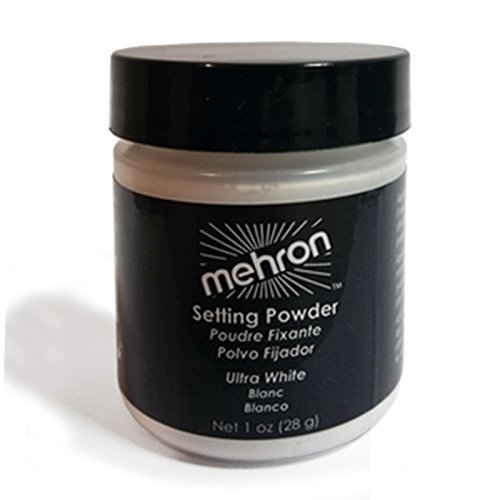 Mehron Setting Powder White with Anti-perspirant 1oz (White Face Makeup Powder)