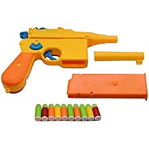 Toy Gun, Mauser c96 Shiny&Colorful Pistol with Set of Soft Bullets and Animal Empire Ring Set - Safe for Outdoor Fun & Summer Play-Best for Teaching Gun Safety, Cap Gun, Foam Dart Gun