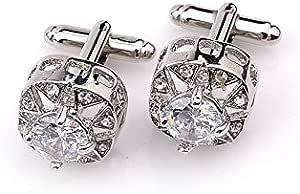 Men's Fashion Cufflinks French Business Cufflinks Inlaid diamond One Pair Formal Cuff Buttons Accessory