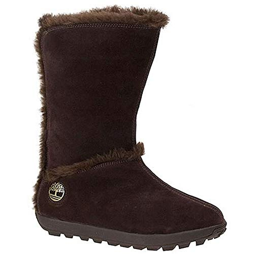 Timberland Women's Mukluk Pull-On Faux-Fur Boot,Brown Suede,US 8 M
