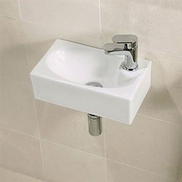 bathroom heaven lavabo pequeo suspendido x cm con accesorios para fijacin