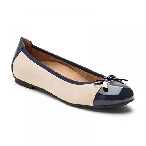 in Minna Cream Blush Women's Navy Ballet Vionic Flats gwOHUxq