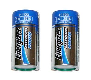 Energizer EVEEL123APB2 Lithium Photo Battery for Digital Cameras, 3 VDC. (Batteries Photo Lithium 2)