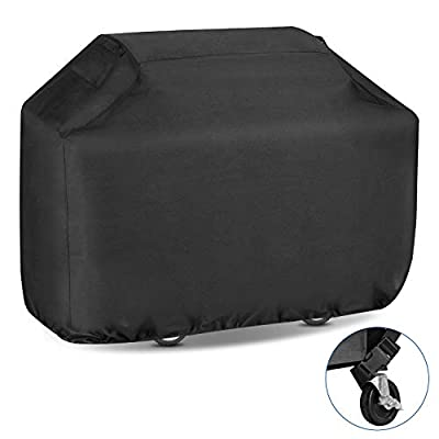Youtob BBQ Grill Cover 58 inch 600D Heavy Duty Fully Waterproof Outdoor Barbecue Smoker Cover with Ripstop & Fade Resistant Material (Extra Storage Bag Included) from Youtob