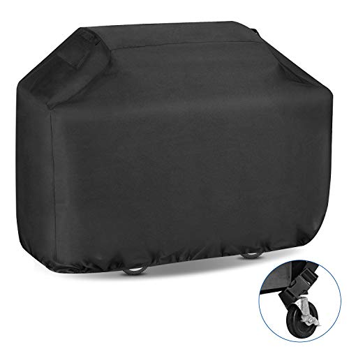 Youtob BBQ Grill Cover 58 inch 600D Heavy Duty Fully Waterproof Outdoor Barbecue Smoker Cover with Ripstop & Fade Resistant Material (Extra Storage Bag Included)