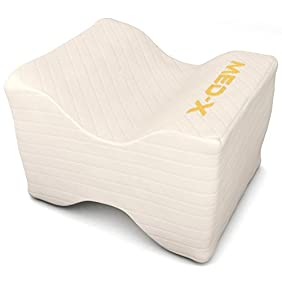 Knee Pillow Pain Relief For Sciatic Nerve , Leg , Back , Pregnancy - Memory Foam Wedge With Breathable Cover