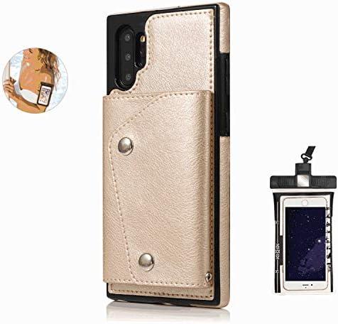 耐汚れ 耐摩擦 Huawei MATE 20 PRO ケース 手帳型 本革 レザー カバー 財布型 スタンド機能 カードポケット 耐摩擦 全面保護 人気 アイフォン[無料付防水ポーチケース]