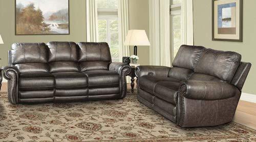 - Parker Living - Thurston Shadow 2 Piece Dual Power Reclining Sofa Set - PAL-MTHU-832P-SH-2SET