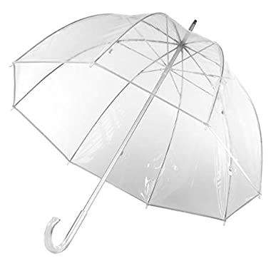 Totes Luggage Bubble Umbrella, Clear