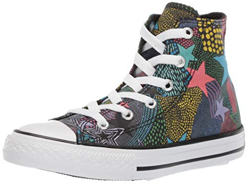Converse Girls Kids' Chuck Taylor All Star Street Mosaic High Top Sneaker Black/Gnarly Blue/White 5 M US Big]()