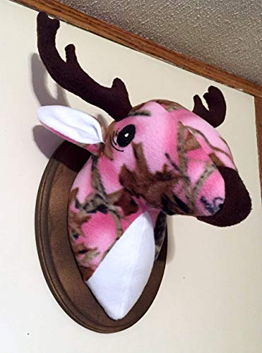 - Stuffed Pink Camo Deer Head/Stuffed animal head/Faux animal head/Best Baby Shower Gifts