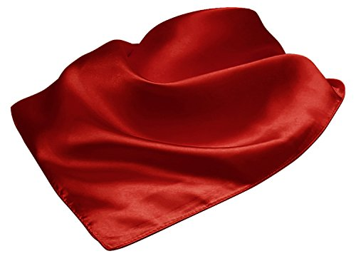 LL Ladies Neckerchief Square Scarf Gorgeous Red Vintage Inspired Silky Soft