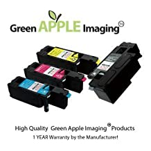 XEROX PHASER 6000 ,6010 4PK Value Bundle Green Apple Imaging High Quality ,High Yield Compatible Toner Cartridges(106R01630 BK,106R01629 Y,106R01628 M,106R01627 C)