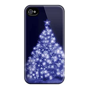 Sanp On Case Cover Protector For Iphone 4/4s (christmas Tree)