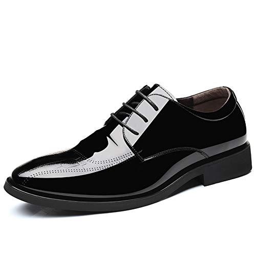 Stile Black Casual Scarpe Lace Casual Cricket Oxford Scarpe in Uomo Lavoro da Pelle Stile Stile da Piede e da HwSgpxS7