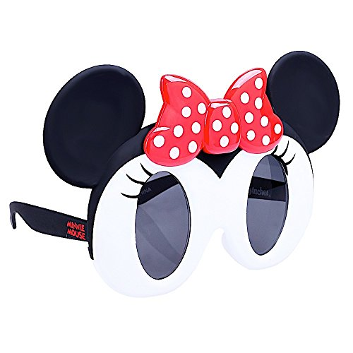 Sun-Staches Costume Sunglasses Lil' Character Minnie Mouse Dark Lens Party Favors UV400