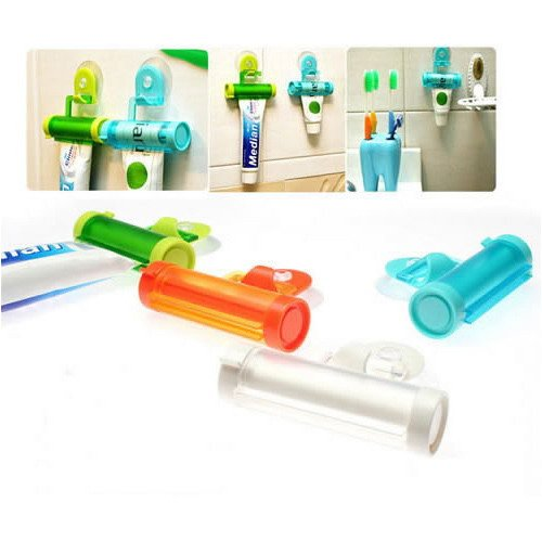 Rolling Toothpaste Squeezer and Hanger Gadget, Random Color