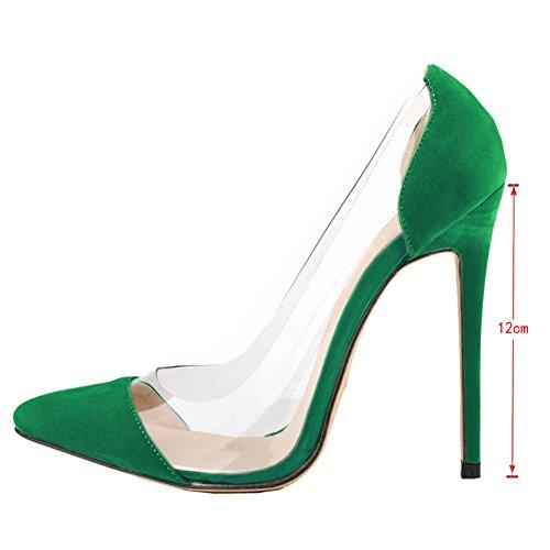 EKS - Zapatos de vestir para mujer Verde