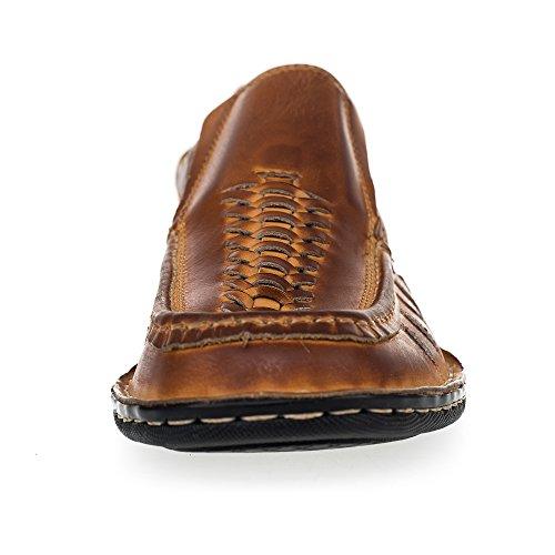 Ks® 012 - Pantofola Da Uomo In Pelle Per Lestate - Marrone