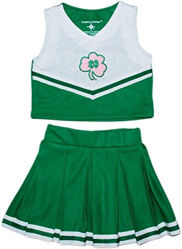 Creative Knitwear University of Notre Dame Fighting Irish Shamrock Toddler and Youth 2-Piece Cheerleader Dress