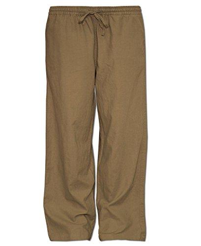 Soul Flower Men's Jammin' Hemp Pants (Medium, Sand)