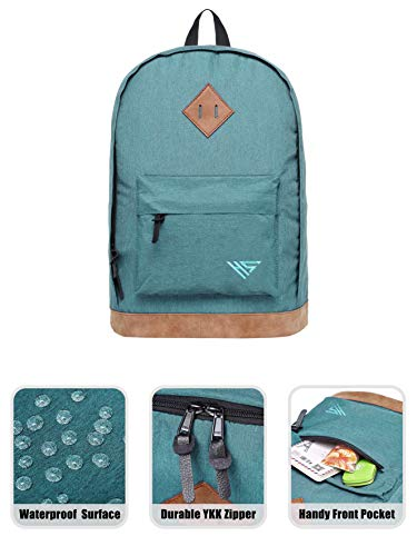 936Plus Casual Backpack College School Vintage Bookbag Water Resistant Work Travel Rucksack