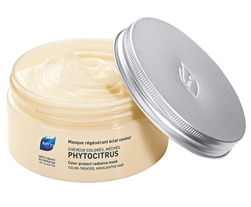 PHYTOCITRUS Botanical Color Protect Radiance Mask |Color-Treated & Highlighted Hair |Prolong Hair Color, Lock Pigment, Provides Shine, Guard Against UV Damage, Nourish Hair| Sulfate Free, Paraben Free