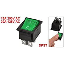 SODIAL(R) KCD4 DPST ON-OFF 4 Pin Terminals Rocker Boat Switch 15A/20A AC 250V/125V