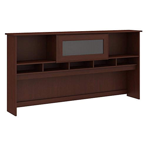 Bush Furniture Cabot Hutch for 72W Computer Desk in Harvest Cherry -
